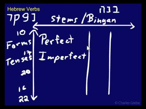 10 02 Hebrew Verbs - Stems (binyanim) & Forms