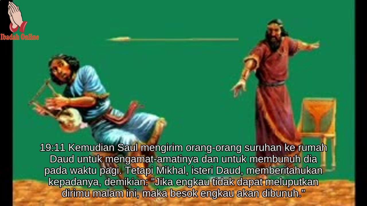 Alkitab Bergambar Untuk Anak Sekolah Minggu 1 Samuel 19 ...
