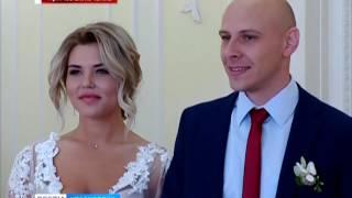 Прямое включение: в красноярских загсах наплыв желающих заключить брак 07.07.17