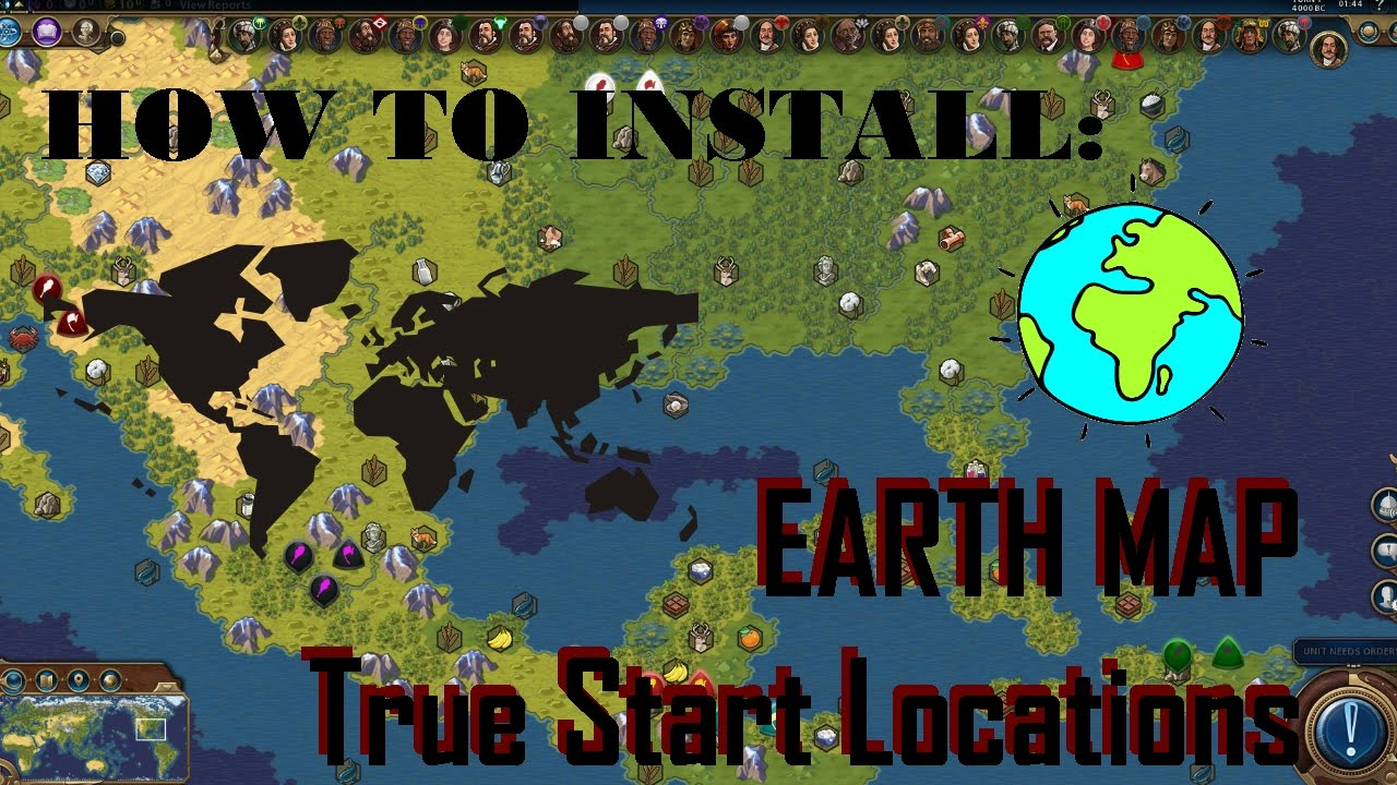 Civ 6 Earth Map Mod Tsl Installation Guide Youtube