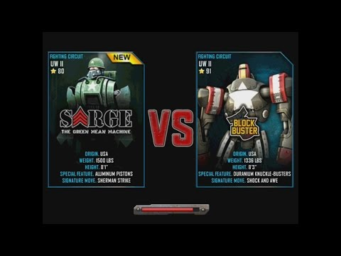 Real Steel WRB Sarge VS Blockbuster NEW ROBOT Update Halloween