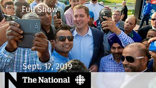 The National for Sept. 17, 2019 - Kaillie Humphries, Canada Votes, Lilly Singh
