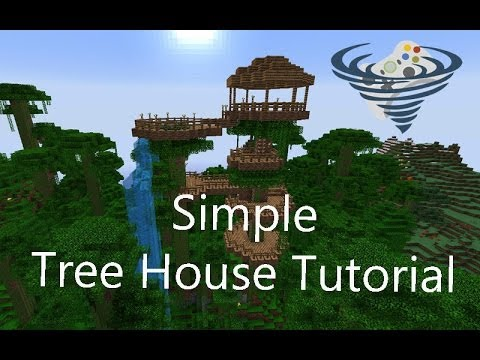 Simple Tree House Tutorial minecraft YouTube