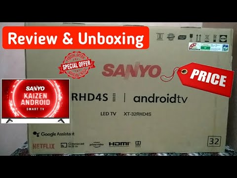 Sanyo 80cm (32 inch) Kaizen Series HD Ready Certified Android LED TV XT-32RHD4S (Black) (2020 Model)