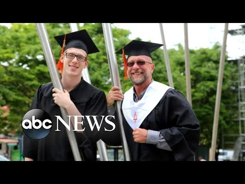 See Dad and Son Graduate Together!