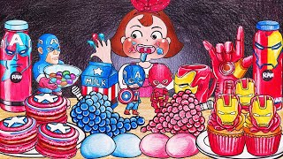 MARVEL Mukbang Animation | RED…
