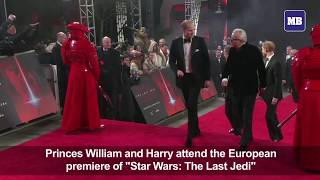 Princes William and Harry attend 'Star Wars' London premiere thumbnail