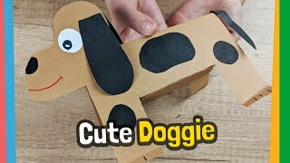 How to make paper Dog - easy craft for kids