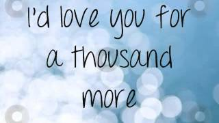 A Thousand Years [Part 1] ; Christina Perri ; Lyrics