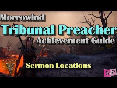 ESO: Tribunal Preacher Achievement Guide- Sermon Locations
