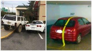 Personas que recibieron su merecido por estacionarse  mal