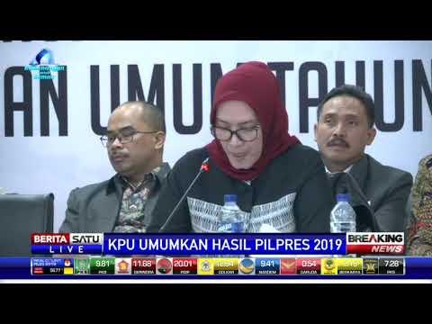 KPU: Jokowi-Ma'ruf Raih 55,5 Persen dan Prabowo-Sandi 44,5 Persen | Wonderdir Pilpres