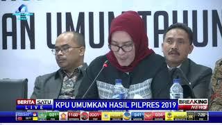 KPU: Jokowi-Ma'ruf Raih 55,5 Persen dan Prabowo-Sandi 44,5 Persen