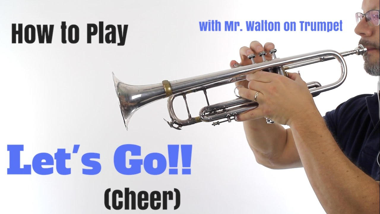 Trumpet EASY Song: Let's Go (Cheer)