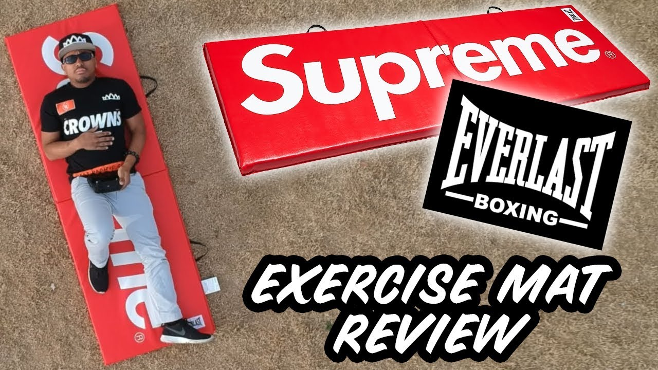 SUPREME X EVERLAST MAT REVIEW! - YouTube