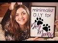 Minimalist Paw Print Painting 🐾 •DOG MOM DIY• 🐾