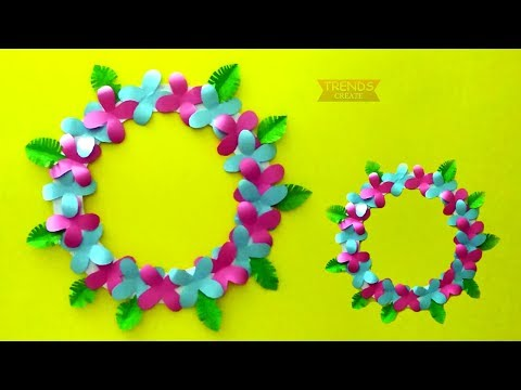 Paper Flower Wall Hanging // Simple Home Decoration Idea // Wall Decoration Idea