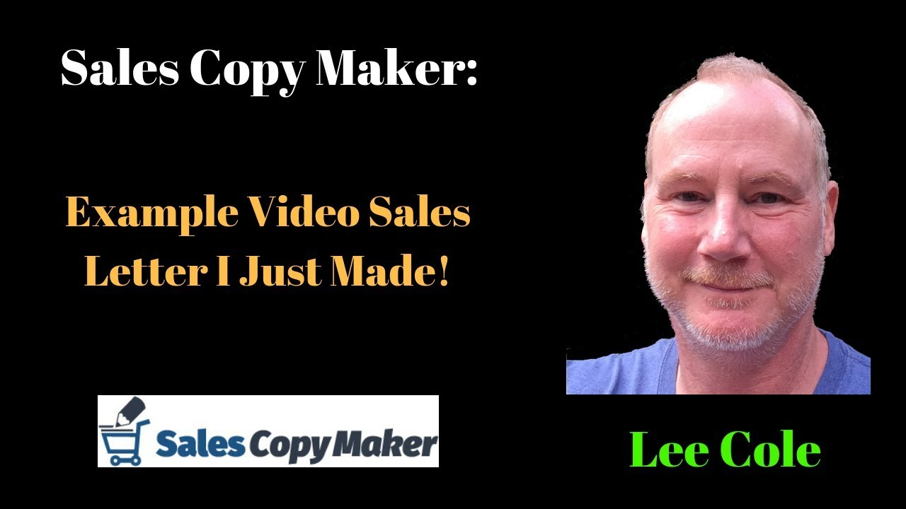 Salescopymaker Example Video Youtube
