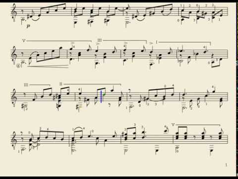 Partitura carora valse venezolano de antonio lauro para for Partituras de guitarra clasica