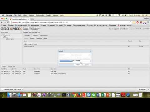 Upload OpenVZ Template on Proxmox VE - YouTube