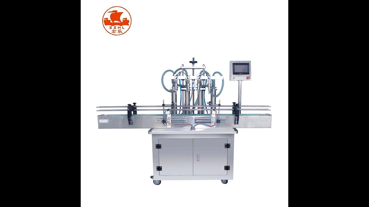 65 HLYA300 2500 4D  4 heads liquid filling machine
