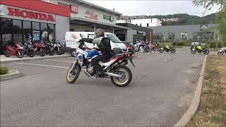 Bourgoin Moto Essai  Maniabilité Africa Twin Adventure Sports 2018