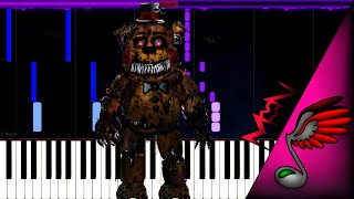 [FNAF Song] TryHardNinja - Five Night At Freddys' 4 Song (Piano Tutorial by Danvol) - Synthesia HD