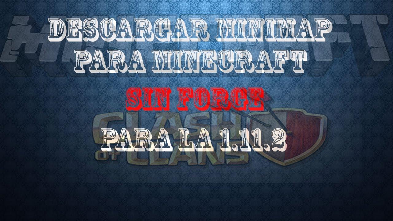 Descargar Minimap Para Minecraft YouTube - Mini map para minecraft 1 11 2