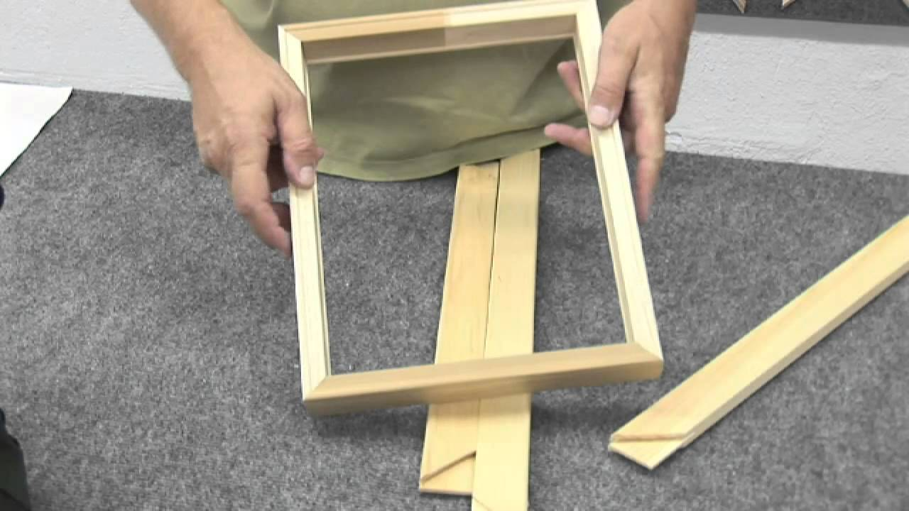 how to make a canvas frame youtube. Black Bedroom Furniture Sets. Home Design Ideas
