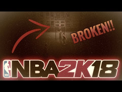 BIG MAN BREAKS NBA 2K18!! (MyPark Funny Moment Ball Gets Glued To Rim!)