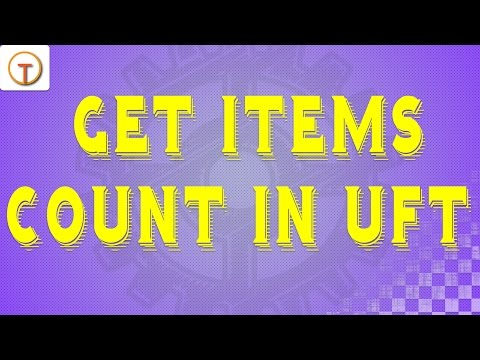 Get Items Count In Uft [getitemscount] In Qtp With Example