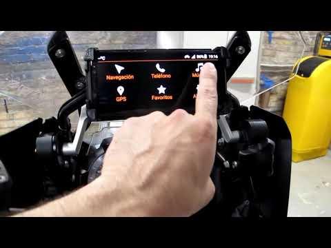 Demostración Del Sistema Moto Media Link (Android) En BMW R1200GS LC