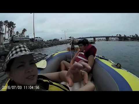 Maricar boating, KC kayaking at mothers beach Long Beach CA, 7.3.2016