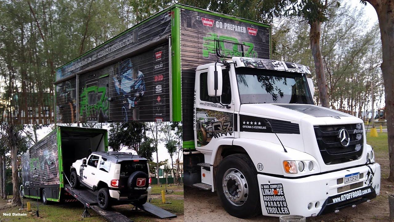 Caminhão / Garagem / Motorcasa - Q7 Offroad, transporte de Troller customizado p/trilhas do RS p CE.