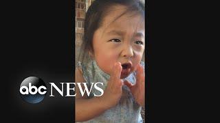 Girl, 5, recalls moment she met adoptive parents