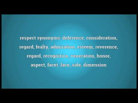 Respect Meaning