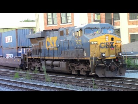 New MBTA Units and CSX Yard Work - Railfanning Worcester, MA in August 2016
