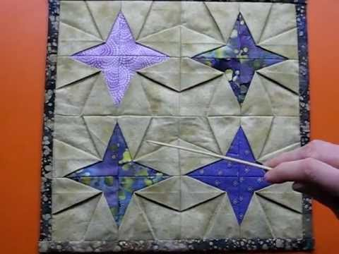Tanabata Quilt Block Tip - Step 9 Stitching - YouTube : folded quilt blocks - Adamdwight.com