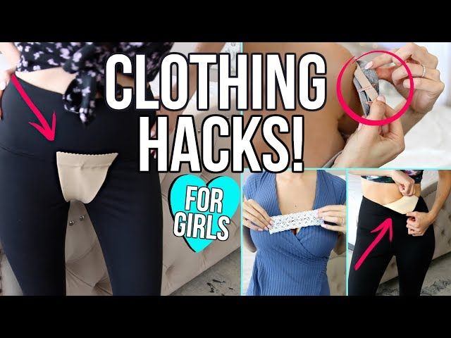 17 CLOTHING LIFE HACKS EVERY GIRL MUST KNOW!