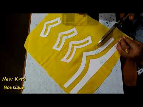Very Beautiful Sleeves Design Making in Very Simple Way by New Kriti Boutique