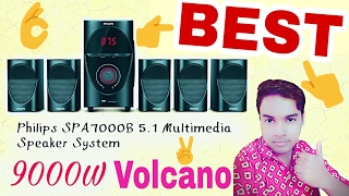 Philips volcano SPA 7000B 5.1 home theater system Unboxing Review and sound test [ hindi ]