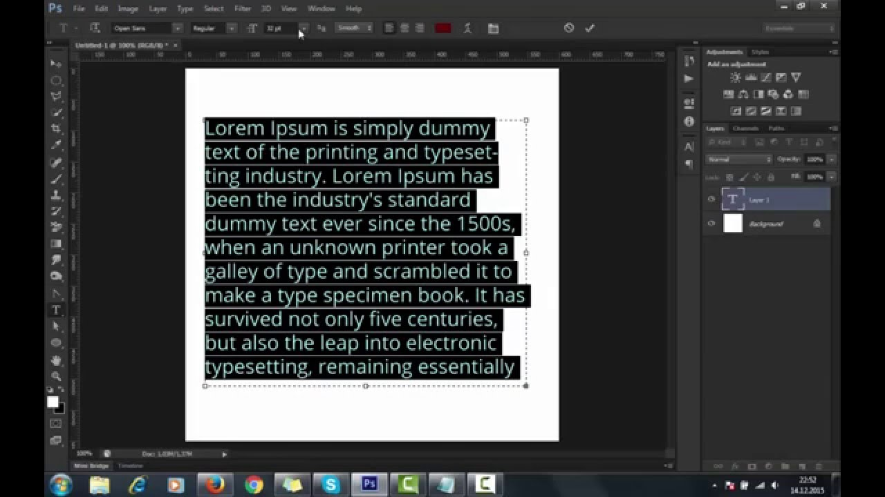 Text justify in photoshop cs6 within seconds youtube text justify in photoshop cs6 within seconds ccuart Image collections
