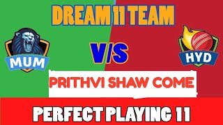 dream 11 team mum vs hyd 1st semifinal