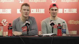 BU Hockey - Brady Tkachuk, Brandon Hickey (12/1/17) at Boston College