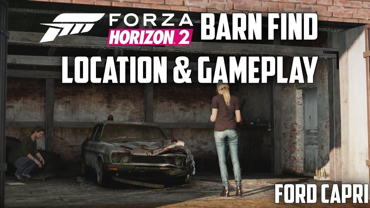 forza horizon 2 - ford capri rs3100 - location  u0026 gameplay  barn find
