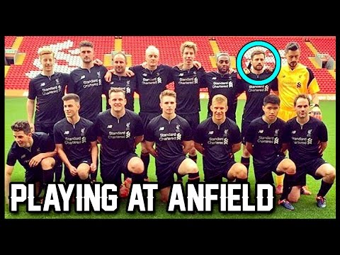 PLAYING AT ANFIELD!