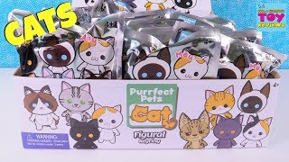 Purrfect Pets Cat Figural Keyrings Full Box Opening Toy Review | PSToyReviews
