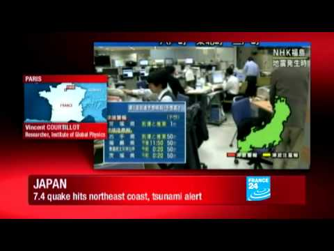 JAPAN EARTHQUAKE - Japan on tsunami alert after powerful quake