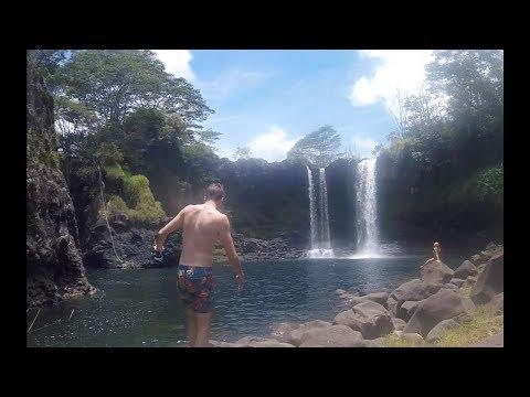 Boiling pots cliff jumping  peepee falls Hilo Hawaii