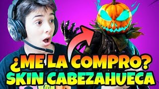 BUYING ME NEW SKIN *FORTNITE CABEZAHUECA *HALLOWEEN LIVE WITH HUGO MARKER